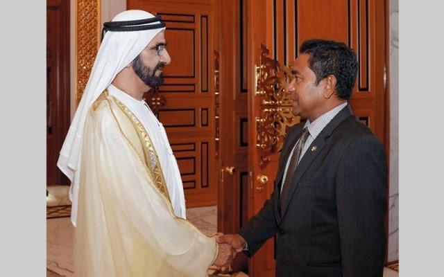 محمد بن راشد يستقبل رئيس المالديف ويبحث معه تطوير العلاقات الثنائية