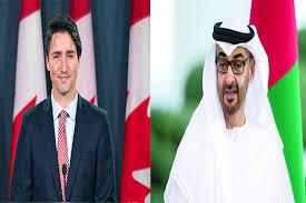 محمد بن زايد يبحث مع رئيس الوزراء الكندي هاتفياً التطورات في المنطقة