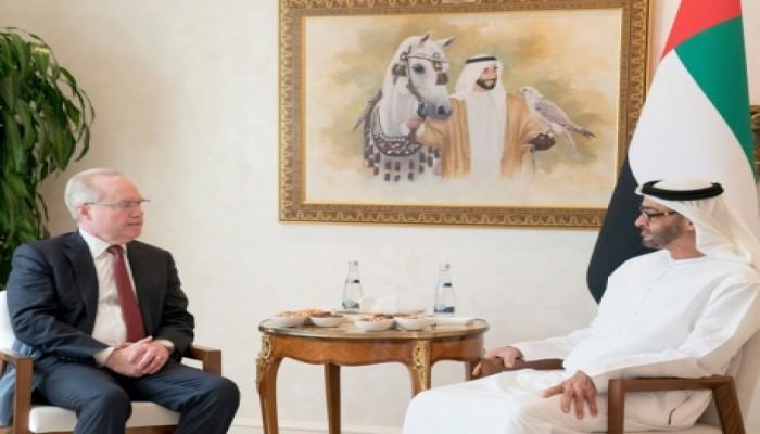 محمد بن زايد يبحث مع رئيس شركة أمريكية للأسلحة التعـاون المشترك