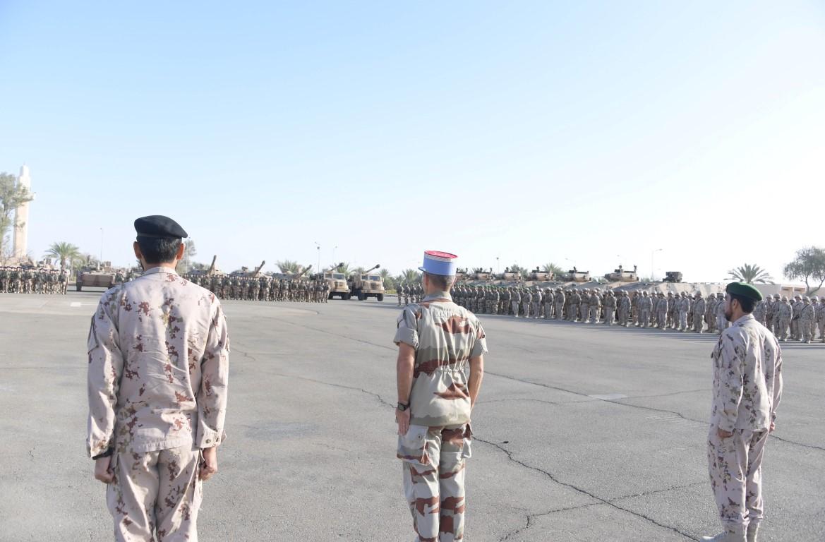 انطلاق التمرين العسكري