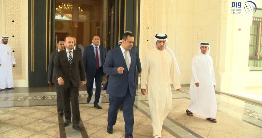 منصور بن زايد يستقبل رئيس وزراء اليمن