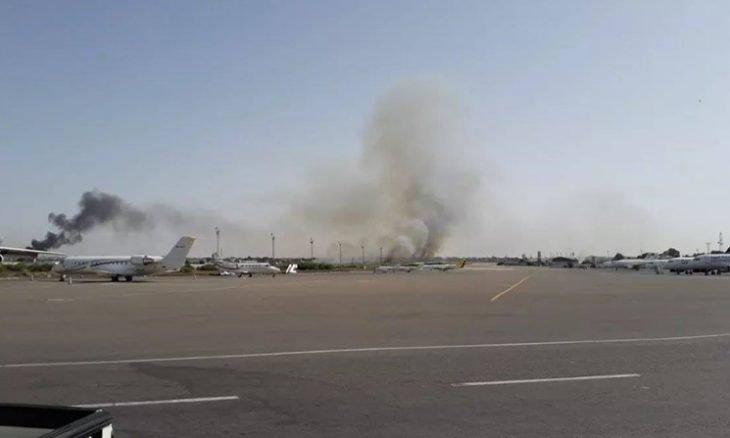طيران إماراتي مسير تابع لحفتر يستهدف مطار معيتيقة بطرابلس