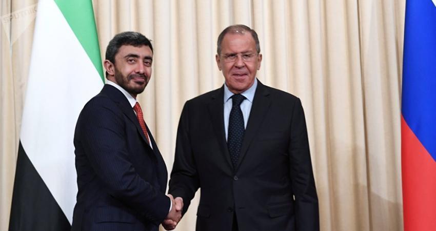 وزير الخارجية الإماراتي يلتقي نظيره الروسي ويؤكد: لا يمكن اتهام دولة بهجمات ناقلات النفط