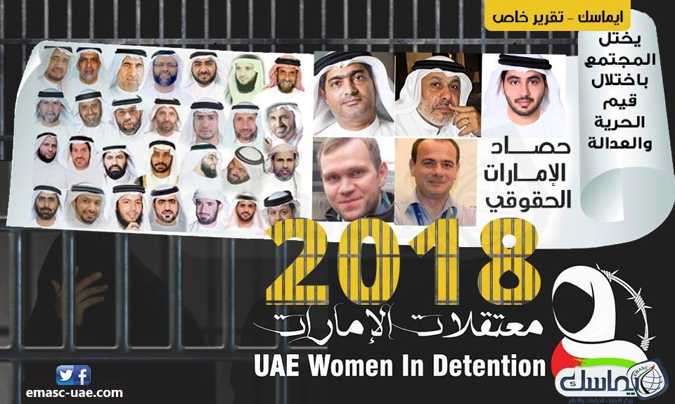 حصاد الإمارات الحقوقي 2018.. انتهاكات وأحكام سياسية وإمعان في جرائم التعذيب