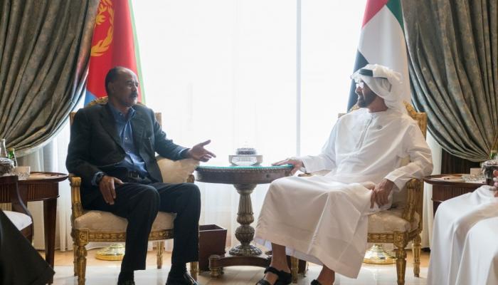محمد بن زايد يستقبل الرئيس الإريتري ويبحث معه المستجدات الإقليمية