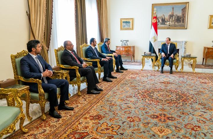 عبدالله بن زايد يلتقي السيسي في القاهرة ويبحث معه التطورات في المنطقة