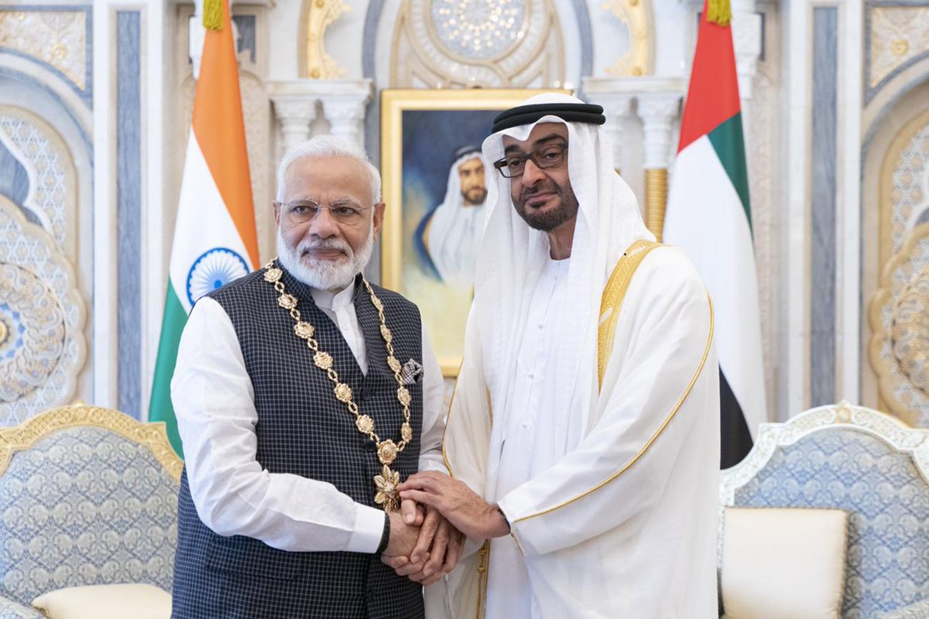 محمد بن زايد يبحث مع رئيس وزراء الهند هاتفياً تطوير العلاقات بين البلدين