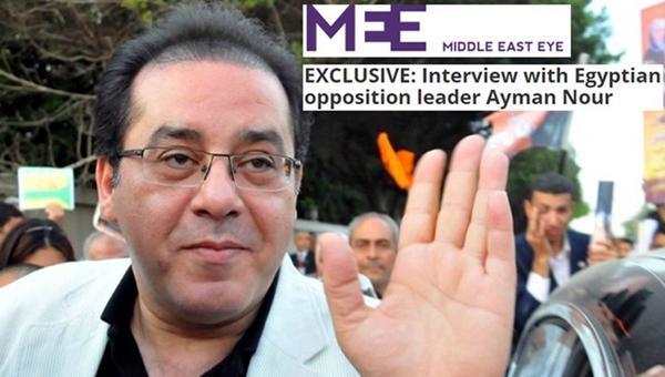 أيمن نور يكشف أوراق مثيرة عن دعم الإمارات المبكر لإنقلاب مصر العسكري