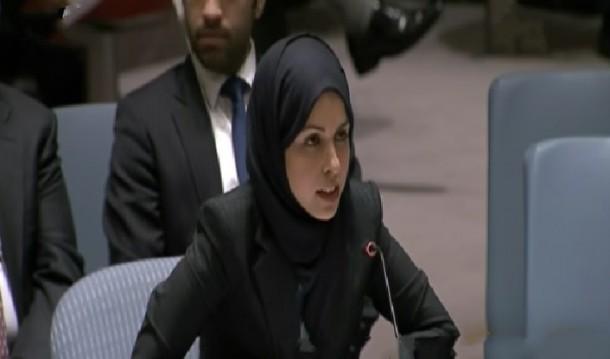 مندوبة قطر تطالب بتحرك عاجل لمعاقبة الحوثيين تحت البند السابع